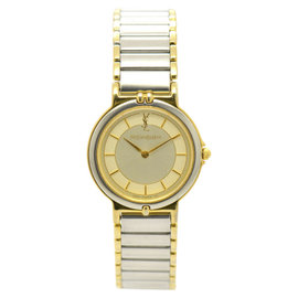 Yves Saint Laurent Stainless Steel & Gold Plated 23.5mm Womens Watch