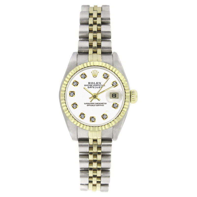 "Image of ""Rolex Datejust 6917 Stainless Steel & 18K Yellow Gold Bezel White"""