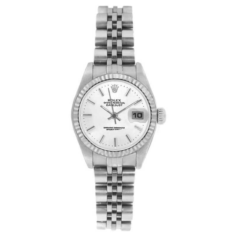 """Image of """"Rolex Datejust 6916 Stainless Steel Jubilee White Stick Dial 18K Gold"""""""