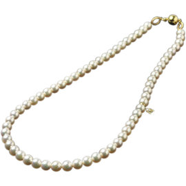 Mikimoto 18K Yellow Gold Golden Pearl Necklace
