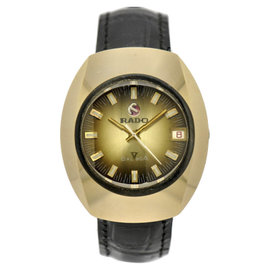 Rado Balboa Gold Plated & Leather Automatic 33.35mm Mens Watch