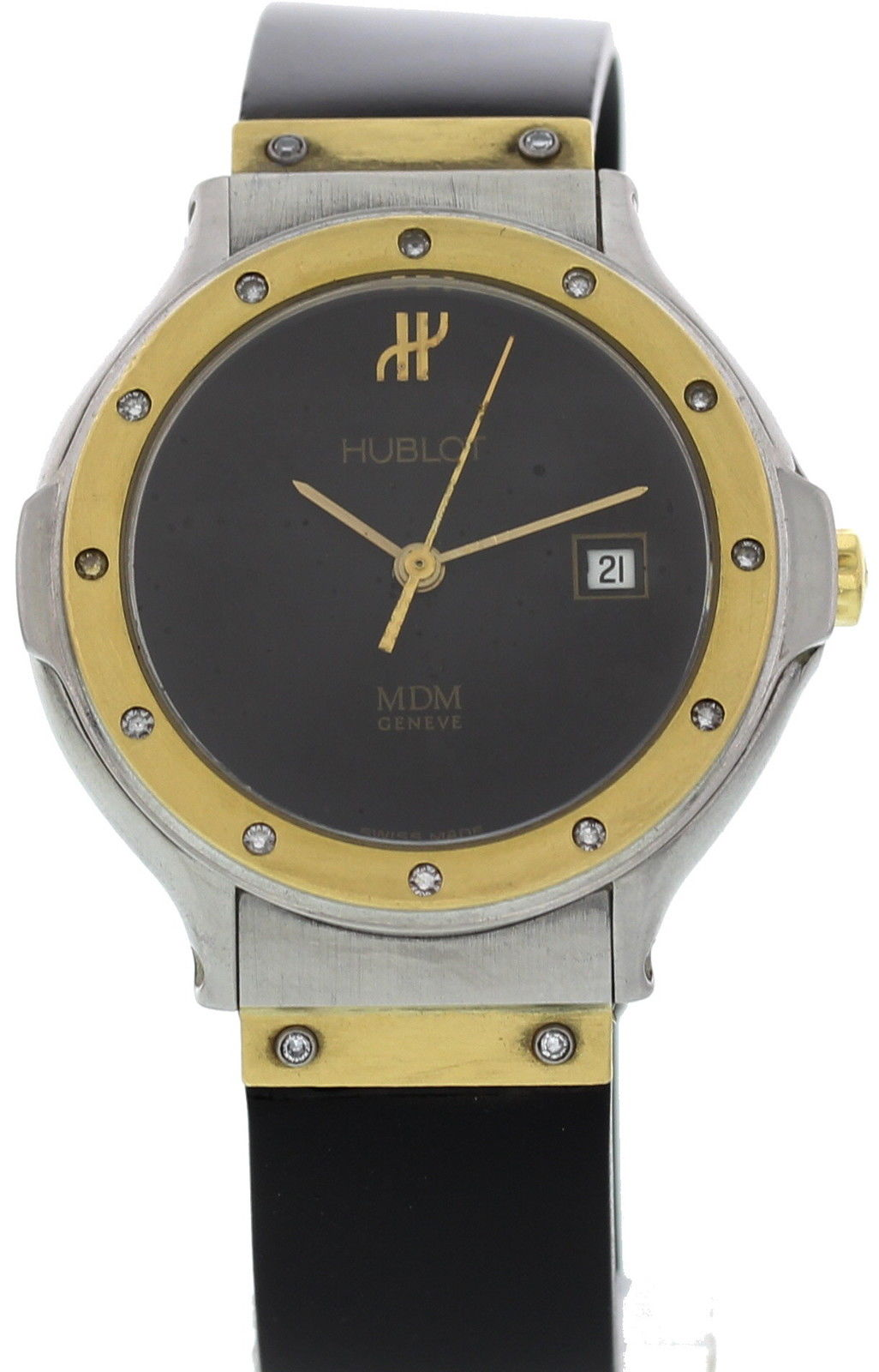 """Image of """"Hublot MDM 1391.2.044 18K Yellow Gold/Stainless Steel & Rubber with"""""""