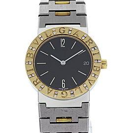 Bulgari BB 30 SGD 18K Yellow Gold & Stainless Steel w/ Diamonds 30mm Unisex Watch