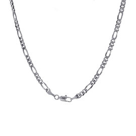 Figaro 14K White Gold Link Chain Necklace