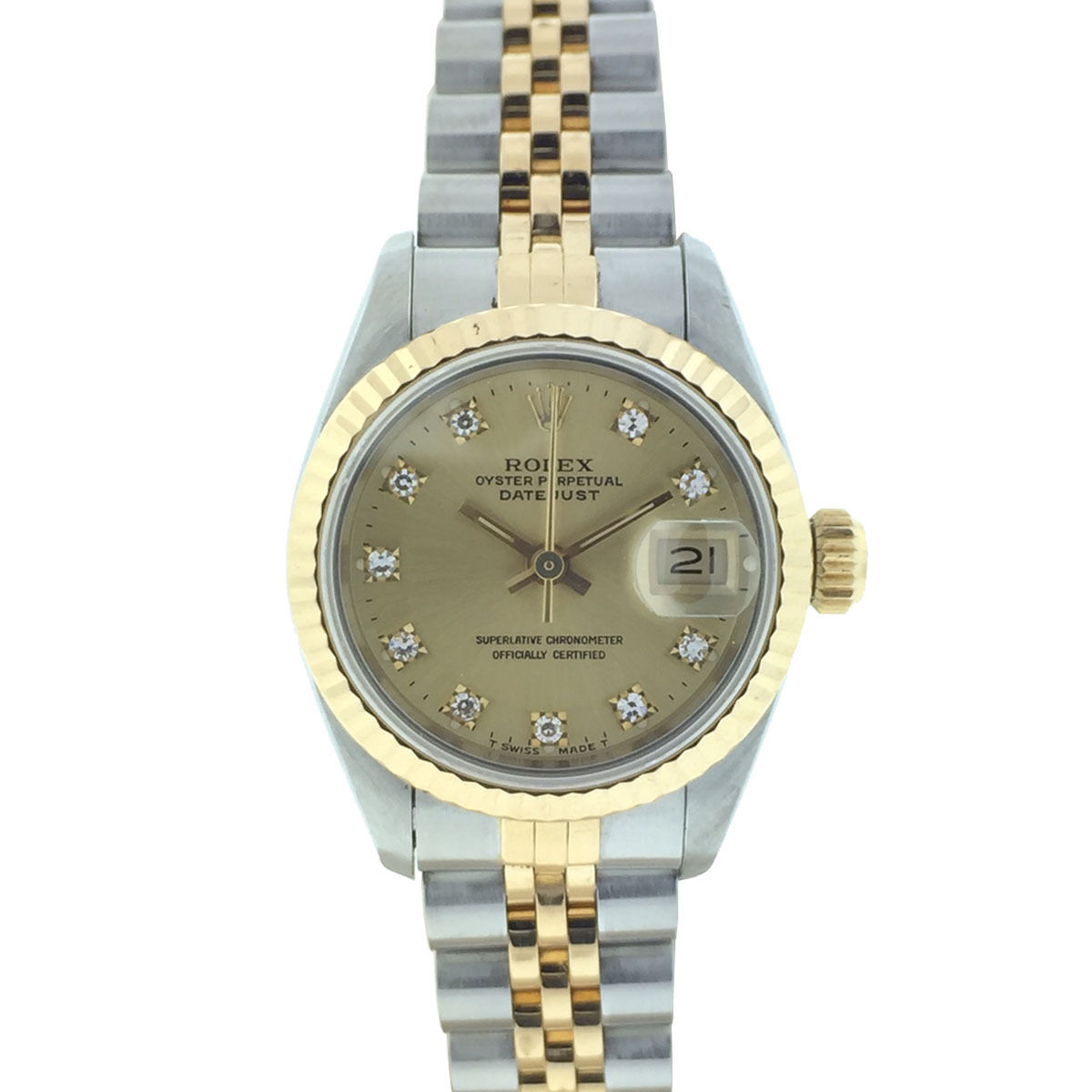 """Image of """"Rolex Datejust 69173 Stainless Steel & 18K Yellow Gold Automatic 26mm"""""""