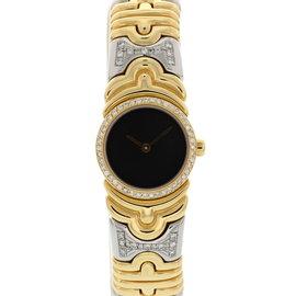 Bulgari Parentesi BJ01 18K Yellow Gold / Stainless Steel 20mm Womens Watch