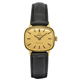 Omega Geneve Gold Plated Hand-Winding 24mm Womens Watch