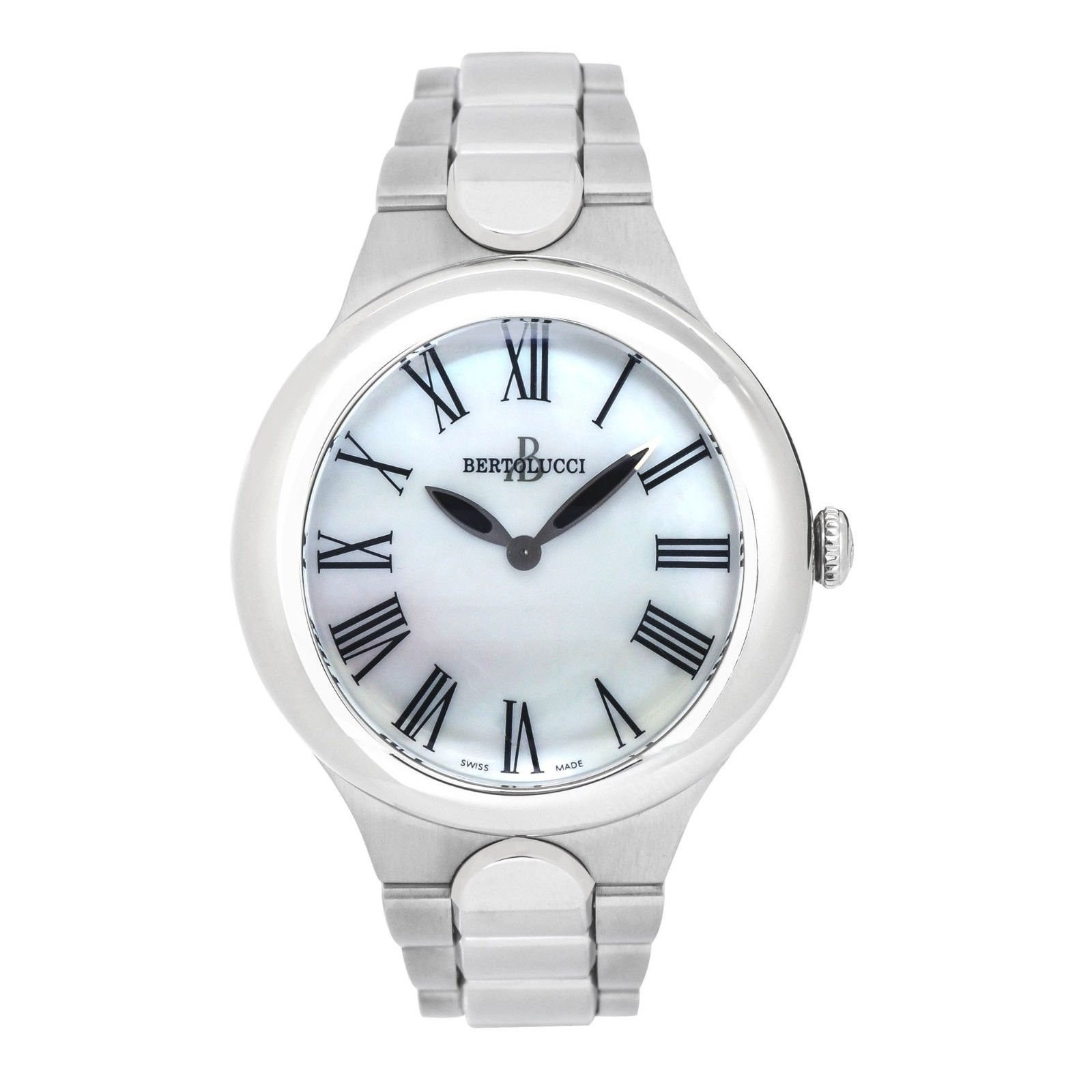 "Image of ""Bertolucci Serena Garbo 303 Stainless Steel Mother of Pearl Dial"""