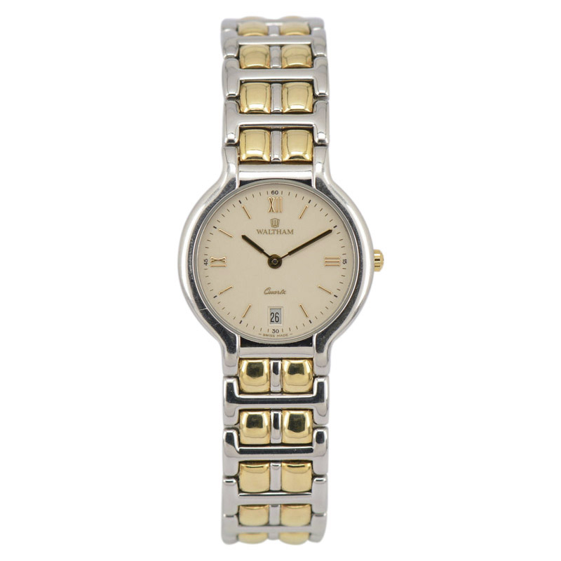 "Image of ""Waltham 53270.26 Stainless Steel & Gold Plated 25.5mm Womens Watch"""