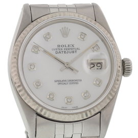 Rolex Oyster Perpetual Datejust 16014 Stainless Steel with Silver Dial Vintage 36mm Mens Watch