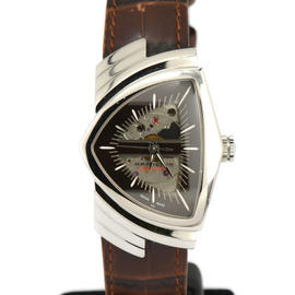 Hamilton Ventura H24515591 Stainless Steel / Leather 35mm Mens Watch
