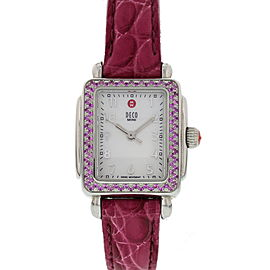 Michele Deco MW06D03A1025 Stainless Steel / Leather 23mm Womens Watch