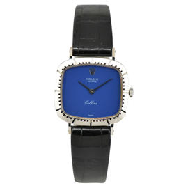 Rolex Cellini 18K White Gold / Leather Hand-Winding 24.5mm Womens Watch