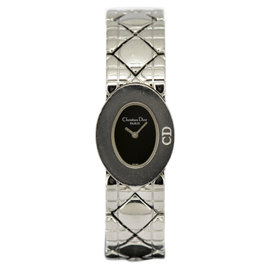 Christian Dior Lady Dior D90-100 Stainless Steel Black Dial Quartz 21mm Womens Watch