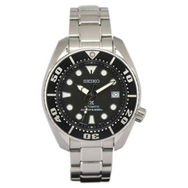 Seiko Prospex 6R15 Stainless Steel with Black Dial 45mm Mens Watch