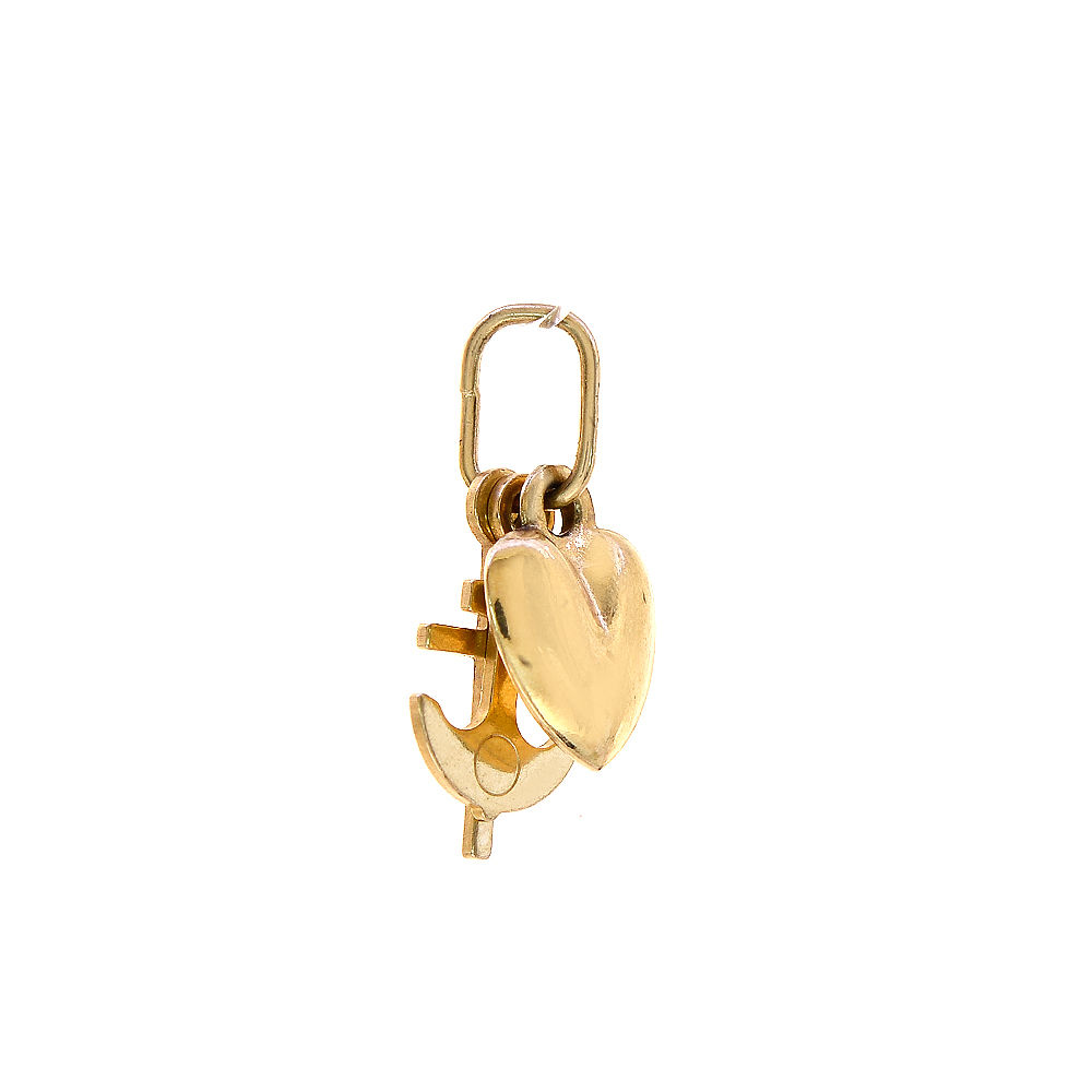 "Image of ""14K Yellow Gold Love Hope & Charity Charm Pendant"""