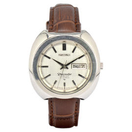 Seiko Pres Matic Stainless Steel 40mm Mens Watch