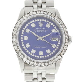 Rolex Oyster Perpetual Datejust 1601 Stainless Steel with Blue Dial Vintage 36mm Mens Watch