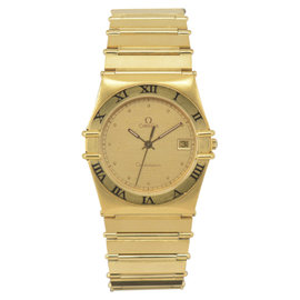 Omega Constellation Gold Plated with Gold Dial 32.5mm Mens Watch