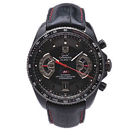 Tag Heuer Grand Carrera CAV518B Titanium-Coated Stainless Steel / Leather 43mm Mens Watch
