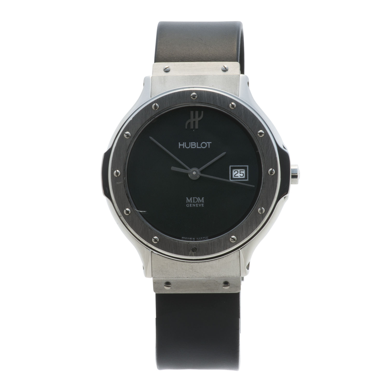 """Image of """"Hublot Classic 1401.1 Stainless Steel Black Dial 32mm Womens Watch"""""""