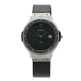 Hublot Classic 1401.1 Stainless Steel Black Dial 32mm Womens Watch