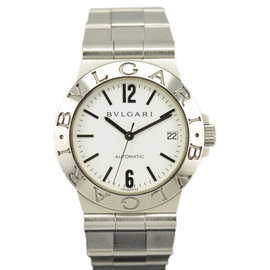 Bulgari LCV35S Diagono Stainless Steel White Dial Automatic 35mm Men's Watch