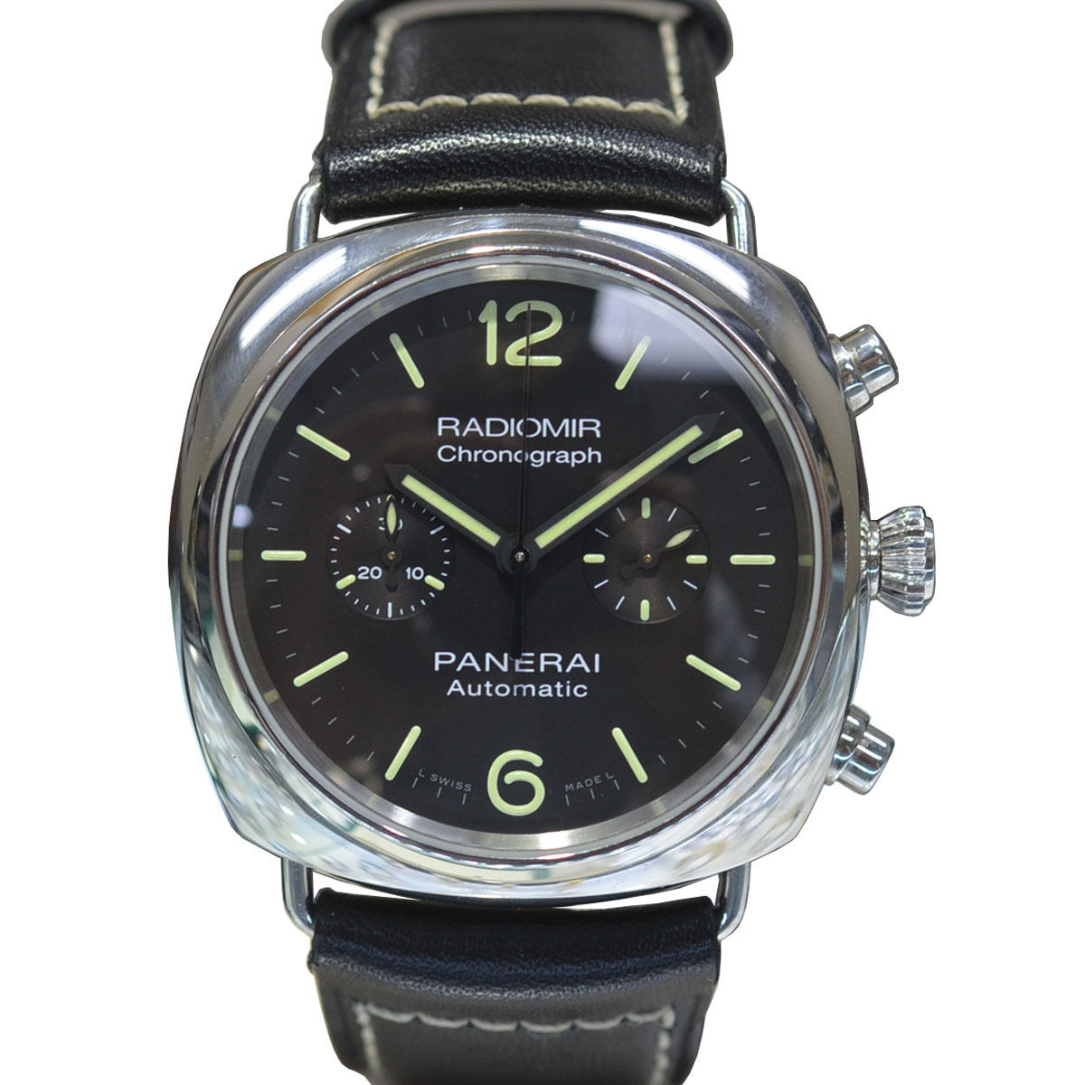 "Image of ""Panerai Radiomir 369 Stainless Steel & Leather Automatic 42mm Mens"""