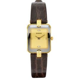Rado 153.8125.6 18K Yellow Gold / Leather 19mm Womens Watch