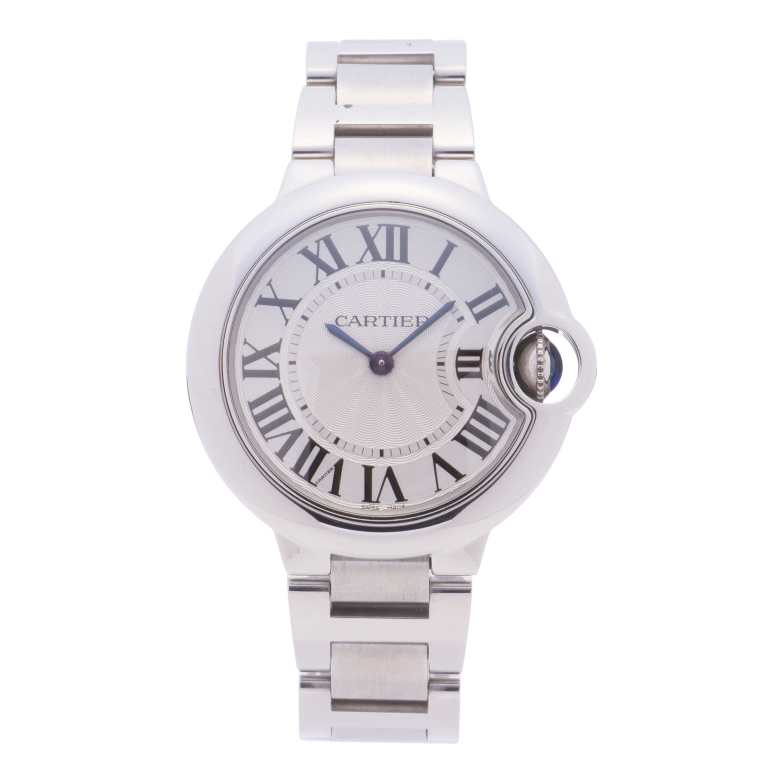 Cartier Ballon Bleu 3653 Stainless Steel 33 mm Mens Watch