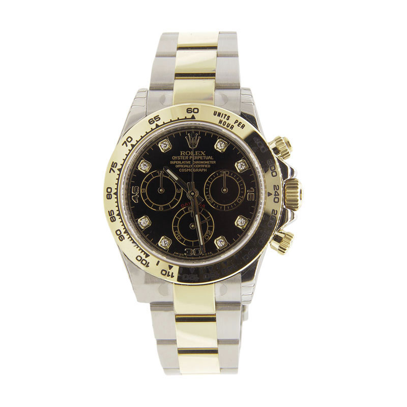"Image of ""Rolex Daytona 116503 18K Yellow Gold and Stainless Steel Black Diamond"""