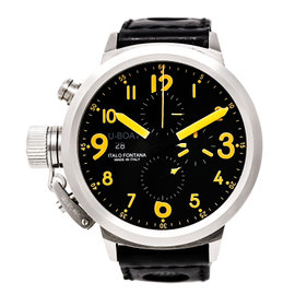 U-boat Flightdeck 7750/50 Stainless Steel / Leather 50 mm Mens Watch