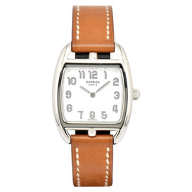 Hermes CapeCod Tonneau PM CT1.210 Stainless Steel / Leather 26.5mm Womens Watch