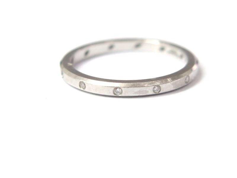 "Image of ""Jeff Cooper Platinum and Diamond Wedding Band Ring"""