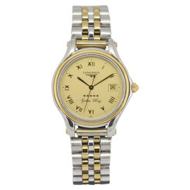 Longines Golden Wing L3.606.5 Gold Plated / Stainless Steel Quartz 33.5mm Mens Watch