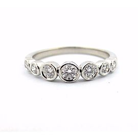 Tiffany & Co. Platinum Jazz Graduated 0.31tcw Diamond Ring Size 7