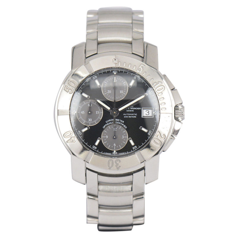 """Image of """"Baume & Mercier Capeland 65352 Stainless Steel Automatic 40mm Mens"""""""