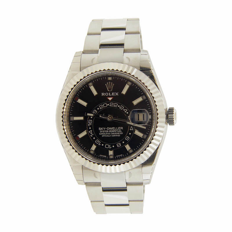 "Image of ""Rolex Sky Dweller 326934 Stainless Steel Black Dial 42mm Mens Watch"""