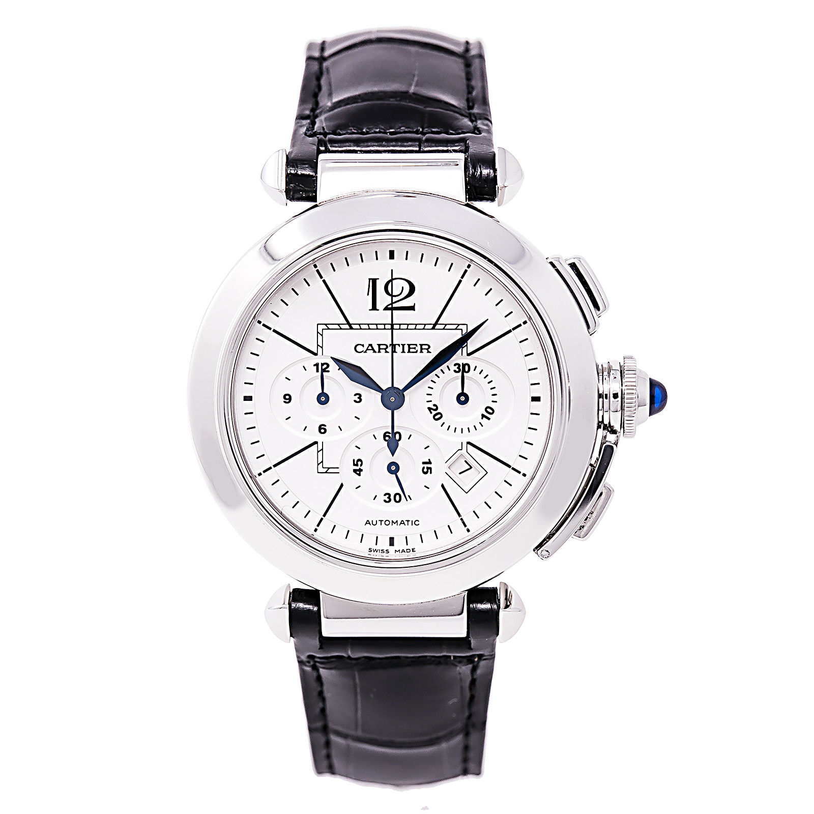 """Image of """"Cartier Pasha Chronograph 2860 Stainless Steel Automatic 42mm Mens"""""""