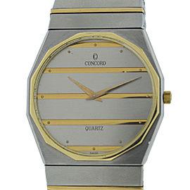 Concord Mariner Stainless Steel & Yellow Gold Quartz 34mm Unisex Watch
