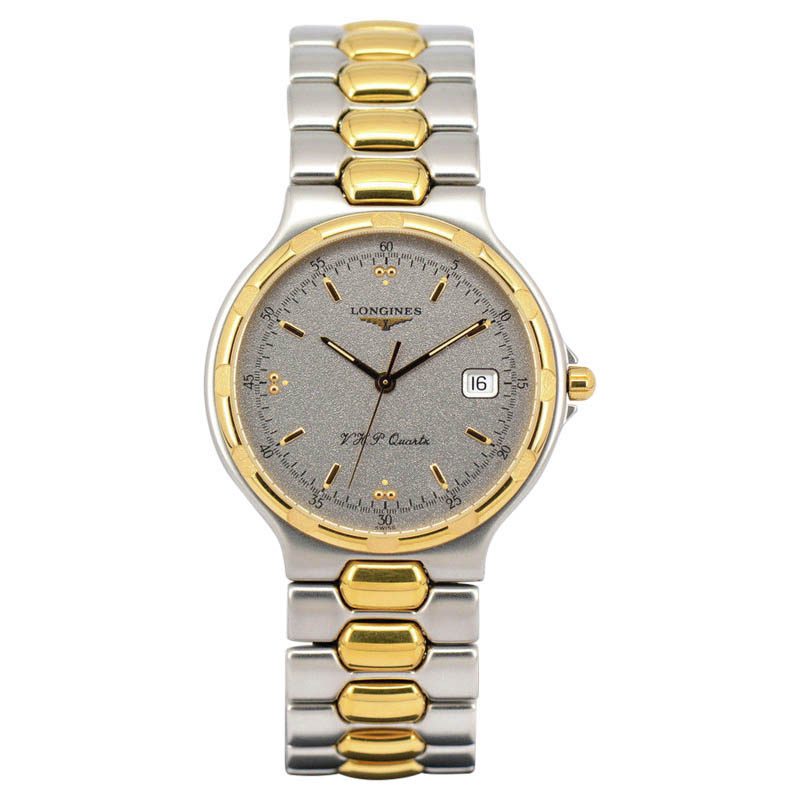 """Image of """"Longines Conquest L1.613.3 Stainless Steel & Gold Plated 34.5mm Quartz"""""""