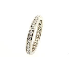 Tiffany & Co. Platinum with 1ct Diamond Eternity Wedding Band Ring Size 7.5