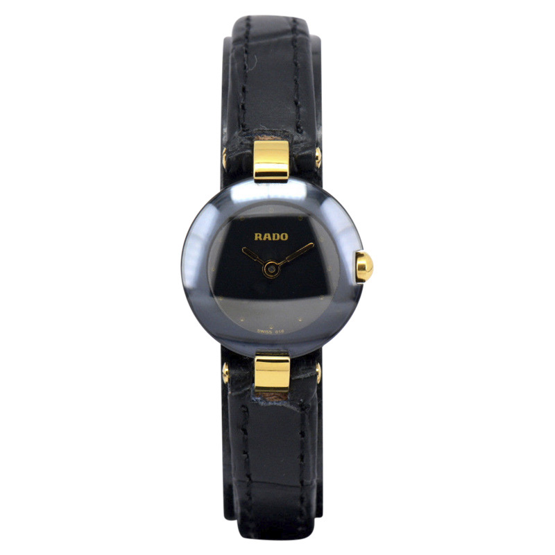 "Image of ""Rado 204.4079.4N Gold Plated & Stainless Steel / Leather Black Dial"""