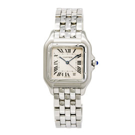 Cartier Panthere 1310 Stainless Steel Off-White Dial Quartz 27mm Womens Watch