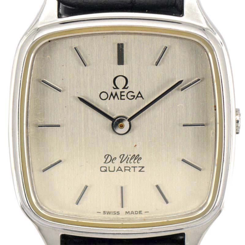 "Image of ""Omega De Ville Stainless Steel / Leather Quartz Vintage 20.5mm Womens"""