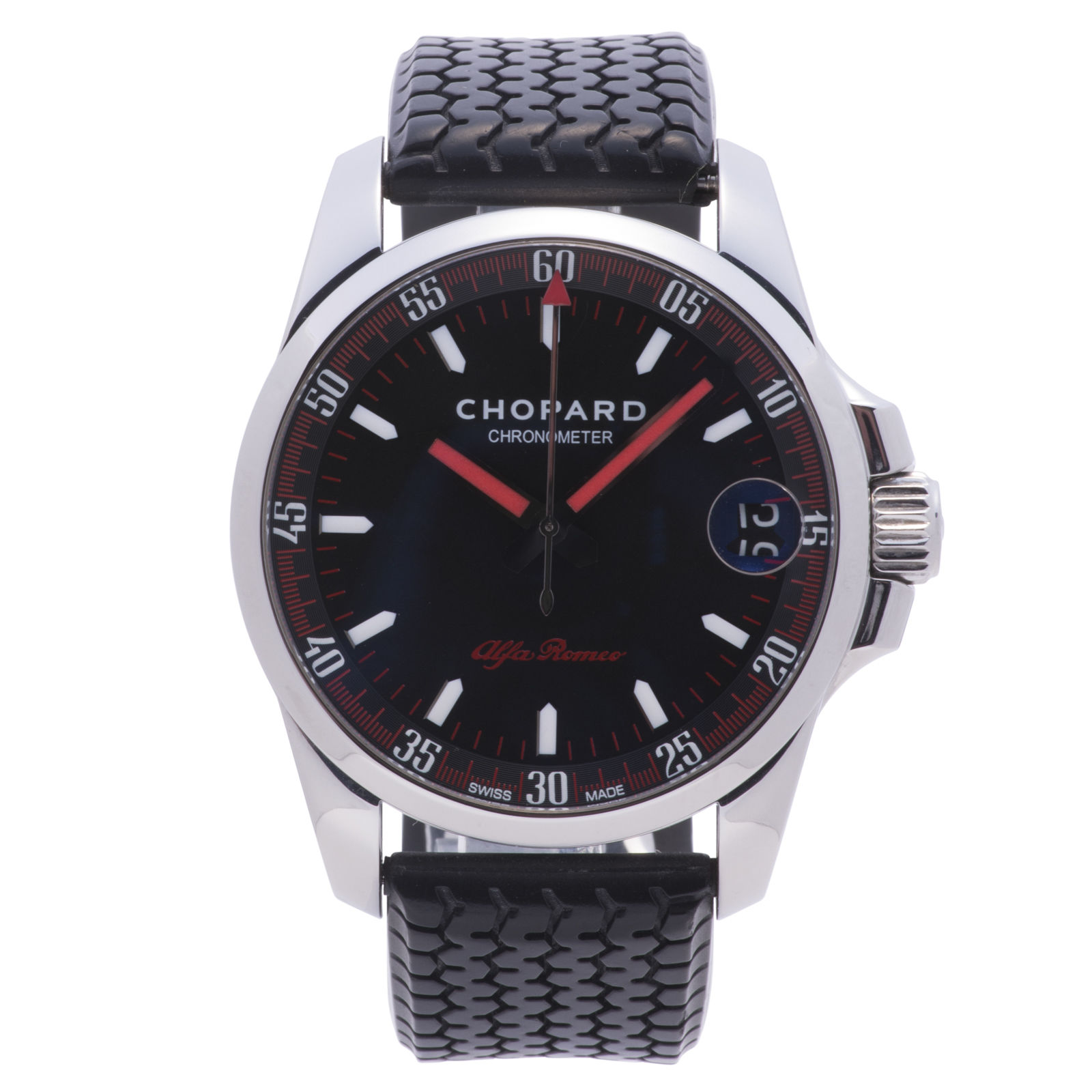 """Image of """"Chopard Mille Miglia 16/8997-3021 Stainless Steel / Leather 44mm Mens"""""""