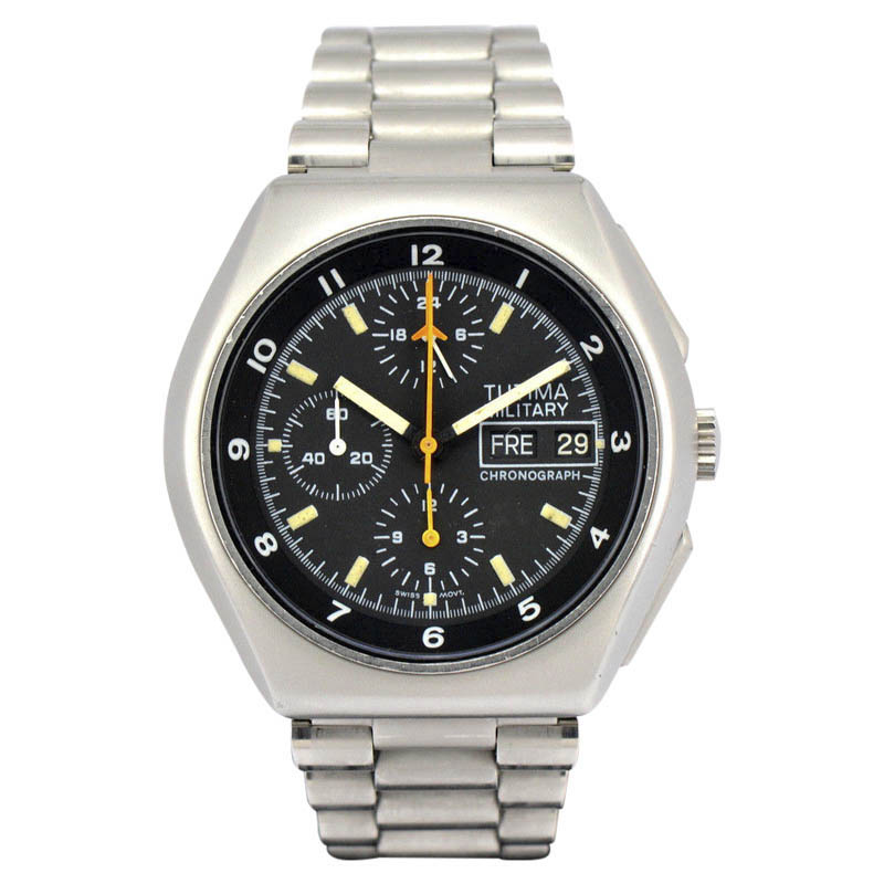 """Image of """"Tutima Military 798 Stainless Steel Automatic 43mm Mens Watch"""""""