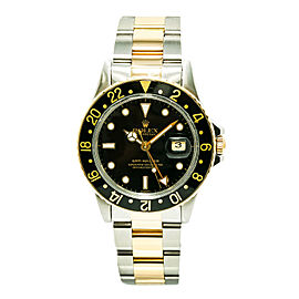 Rolex GMT Master 16753 Stainless Steel / 18K Yellow Gold Automatic Vintage 40mm Mens Watch