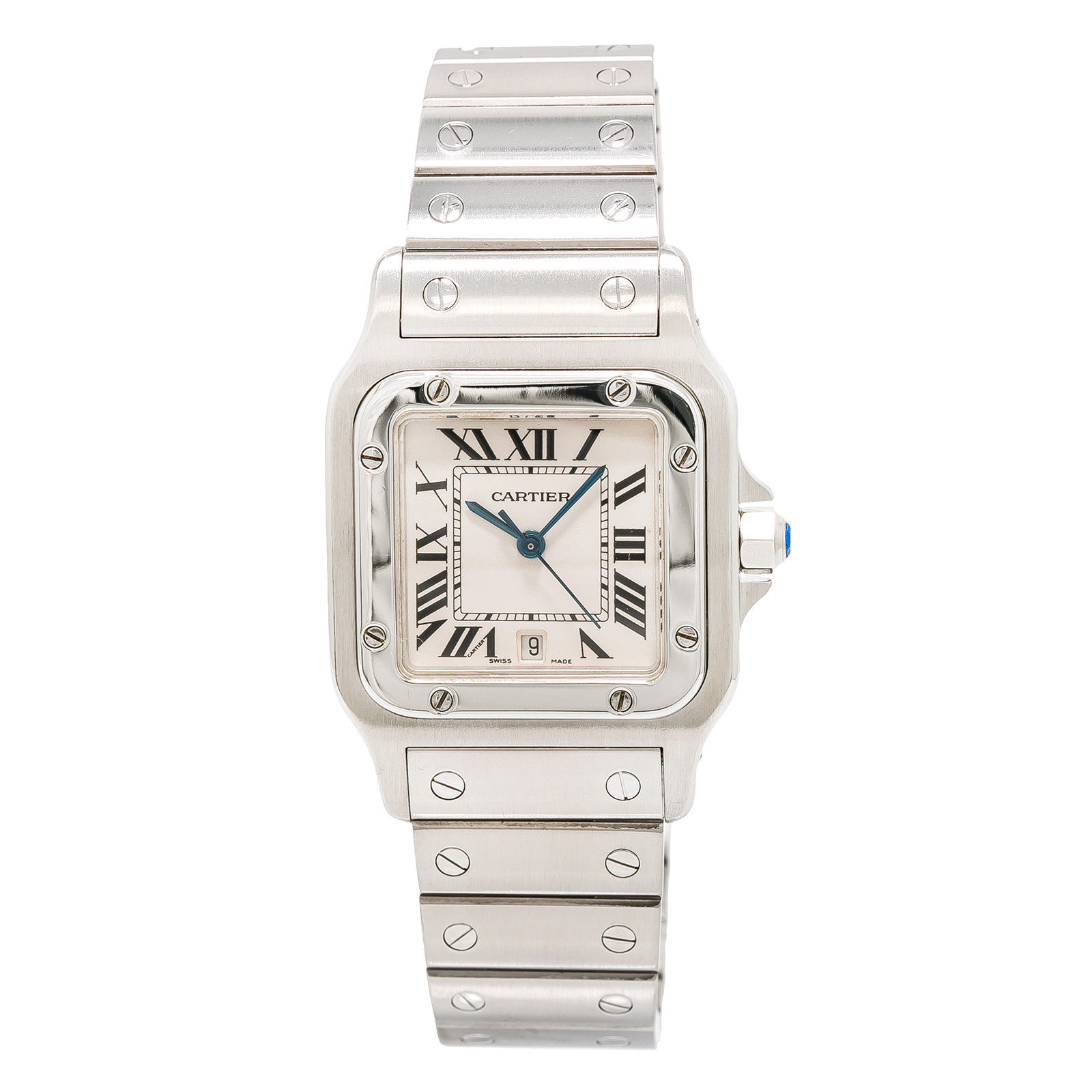 """Image of """"Cartier Santos Galbee 1564 Stainless Steel with Cream Dial Quartz 29mm"""""""