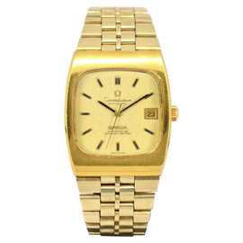 Omega Constellation Chronometer Gold Plated Automatic 33mm Mens Watch